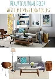 Sofa Less Living Room Beautiful Home Decor Ideas West Elm Living Room For Less