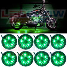 ledglow 8pc green led motorcycle atv lighting kit