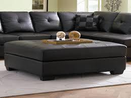 Ottoman Tables Table Black Leather Ottoman Coffee Table Neuro Furniture