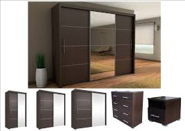 Wenge Bedroom Furniture Inova Sliding Door Wardrobe Wenge Bedroom Furniture Bedside Chest