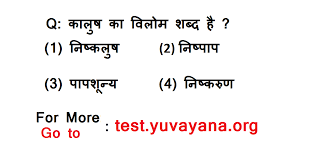 vilom shabd mcq hindi vyakaran quiz free online practice test