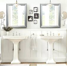 Bathroom Mirrors Brushed Nickel Framed Bathroom Mirrors Brushed Nickel Mirror Design