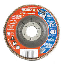 Home Depot Design Center Orlando Diablo 4 1 2 In 40 Grit Steel Demon Grinding And Polishing Flap