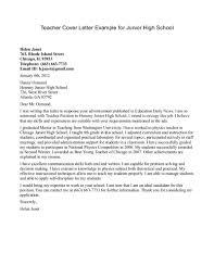 Preschool Teacher Cover Letter Sample Sample Cover Letter For Teacher Resume