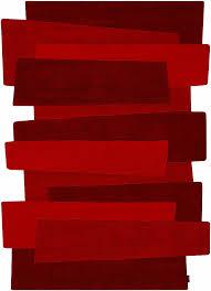 tappeto moderno rosso angelo pebbles rosso 240x170 cm tappeti design tappeti tappeto