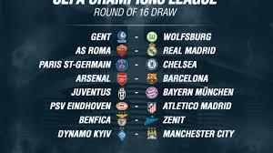 Jadwal Liga Chion Jadwal Liga Chions 2016 Babak 16 Besar Malam Hari Ini