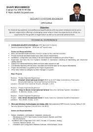 Sample Resume For Encoder by Shafi Muhammed It U0026security System Engineer Cv
