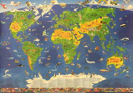 Children S Map Of The World by Children U0027s World Map By Geosmile 9349685003762 Books Hardie