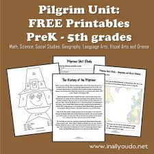 what did the pilgrims do on thanksgiving pilgrim unit free printables in all you do