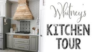 Modern Farmhouse Kitchen by Whitney U0027s Modern Farmhouse Kitchen Tour Youtube