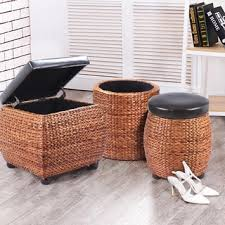 Seagrass Storage Ottoman Gallerie Decor Bali Breeze Round Storage Ottoman Free Shipping