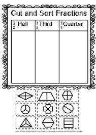worksheets half third quarter kindergarten pre k grade one