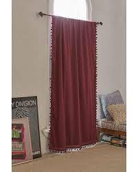 Plum And Bow Curtains Savings On Plum Bow Blackout Pompom Curtain Maroon