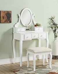 vanity table set stool dressing tables mirror drawers classic