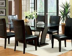 black dining room set dining room wood base with glass dining room table set