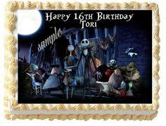 a275 edible image birthday deco 1 4 sheet cake topper nightmare