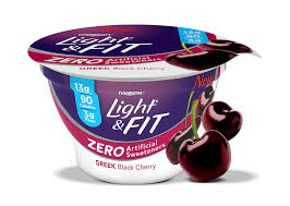 dannon light and fit nutrition black cherry greek yogurt with zero artificial sweeteners light fit