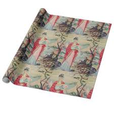 asian wrapping paper zazzle