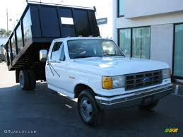 Ford F350 Truck Specs - 1990 oxford white ford f350 xl regular cab chassis dump truck