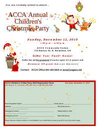 acca annual children christmas party