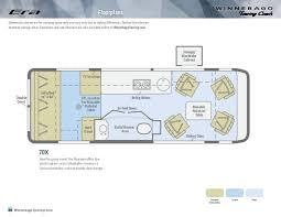 class b rv floor plans 2014 winnebago era class b motorhomes