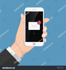 flash design style hand holding smartphone stock vector 678195526