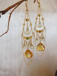 Citrine Chandelier Earrings Defying Description These Extraordinary Intricate 14k Gold