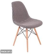 buy 2 x eames dcv replica houndstooth dining chairs graysonline