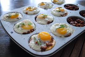 baked egg cups with leftover thanksgiving and from