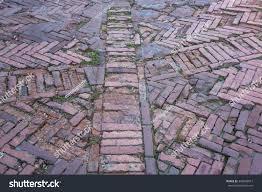 herringbone pattern variations old red brick stock photo 346909013