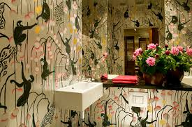 monkey wallpaper for walls traditional wallpaper animal motif fabric look hand painted