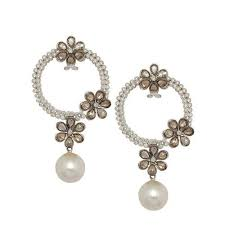 trendy earrings trendy pearl earrings arts