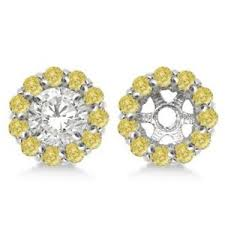 earring jackets for studs yellow diamond earring jackets for 7mm studs 14k w gold