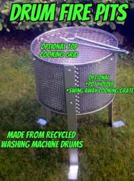 Washing Machine Firepit Recycled Stainless Steel Washing Machine Washer Drum Pit