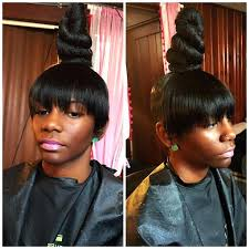 black hairstyles with bun and bangs unique weave bun hairstyles with bangs bun hairstyles weave bun