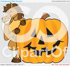 pumpkin no background clipart of a horse colt bronco stallion or mustang mascot