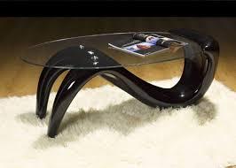 elegant curved glass coffee table u2013 house photos