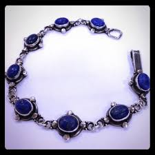 antique sterling silver bracelet images Lapis lazuli jewelry antique 925 sterling silver bracelet poshmark jpg