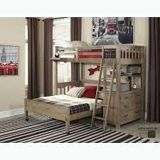 Loft Bed Set Ne Kids Highlands Collection Grey Driftwood Finish Loft Bed Set