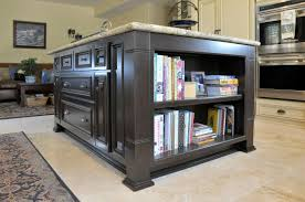 Kitchen Island With Bookshelf Scane Cabinets