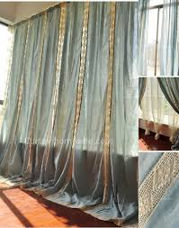 home and garden curtains in double colors of flowers styles