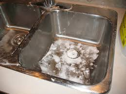 ideas how to clean old stainless steel sink buffing stainless