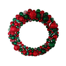 50 in artificial wreath with multi color shatterproof ornament