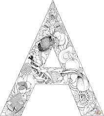 letter a coloring pages itgod me