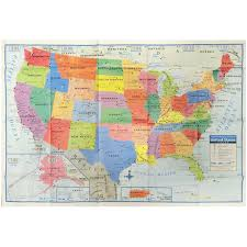 United States Map Wall Art by Wall Maps Amazon Com Office U0026 Supplies Education U0026 Crafts