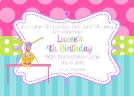 Invitation Card Of Birthday Party Imposing Gymnastics Birthday Party Invitations Which Is Currently