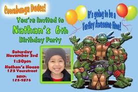teenage mutant ninja turtles birthday invitations template