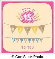 stock illustrations of 15th birthday party invitation