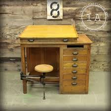 Antique Wooden Drafting Table by Elemental Vintage Industrial Furniture Home Design Ideas