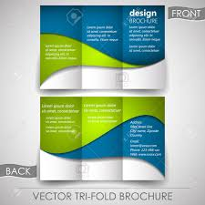 business tri fold flyer template or corporate brochure cover
